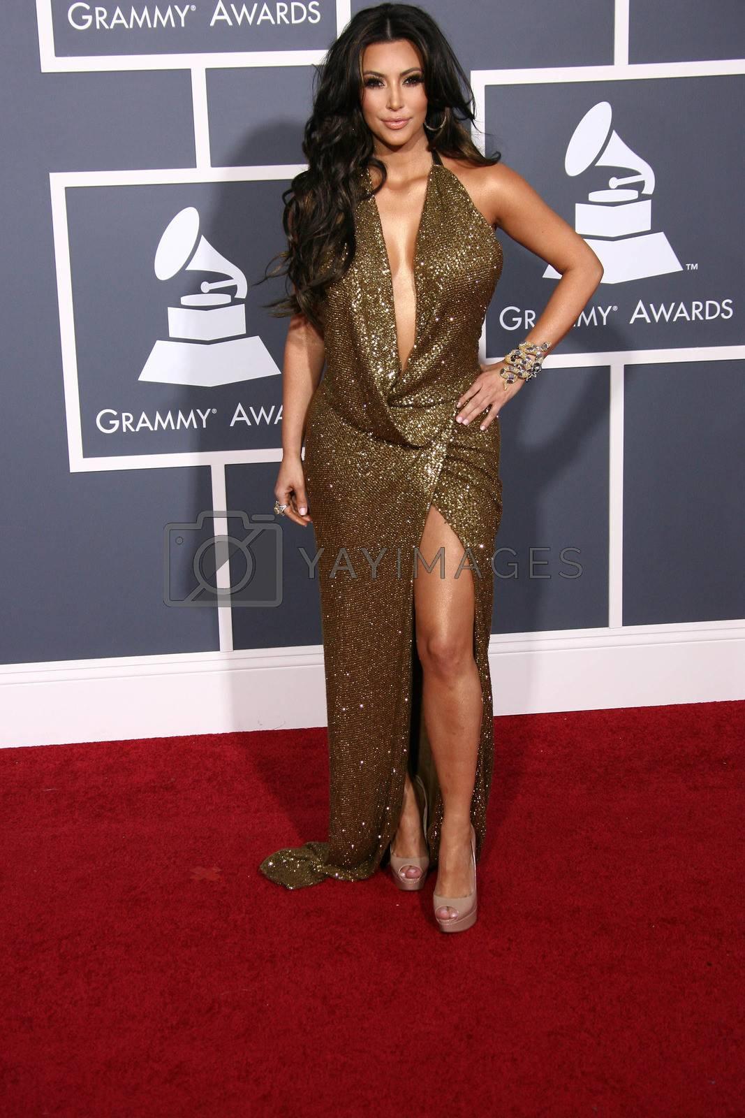Kim Kardashian  at the 53rd Annual Grammy Awards, Staples Center, Los Angeles, CA. 02-13-11