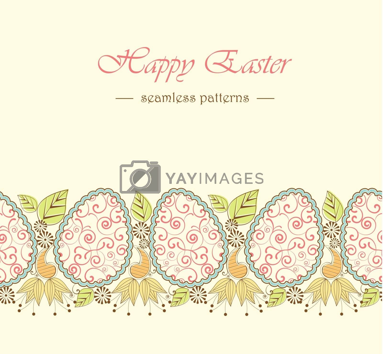 Easter background with eggs, seamless pattern
