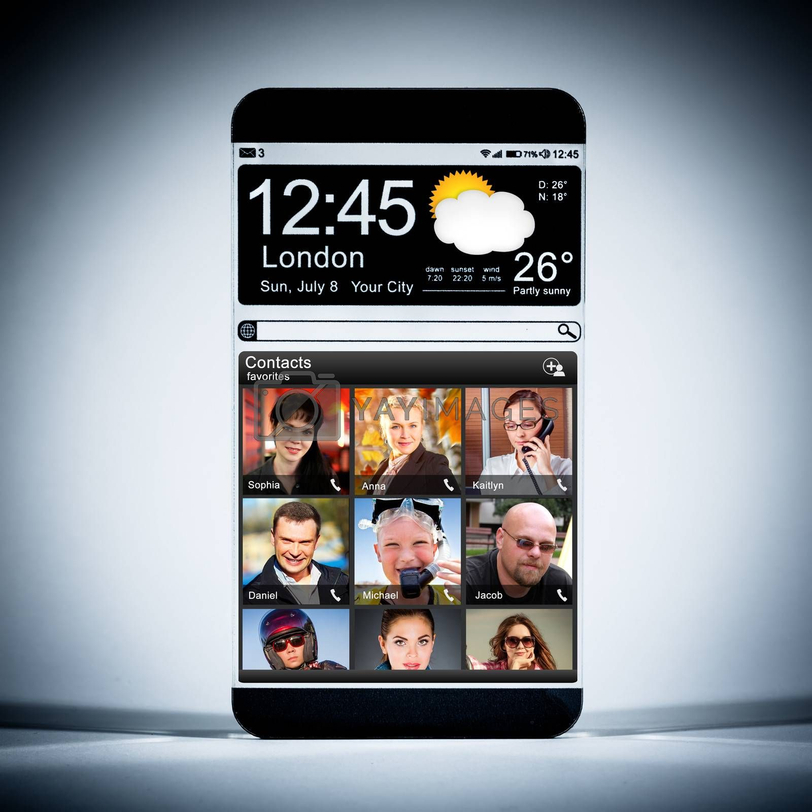 Smartphone with a transparent display. by cookelma