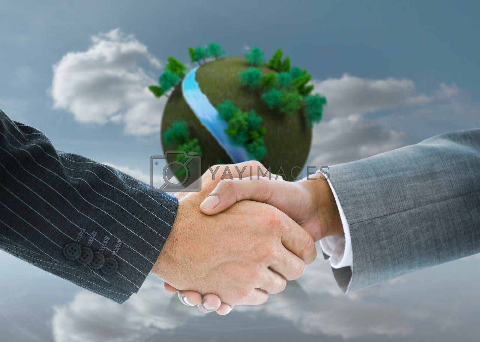 Composite image of business handshake by Wavebreakmedia