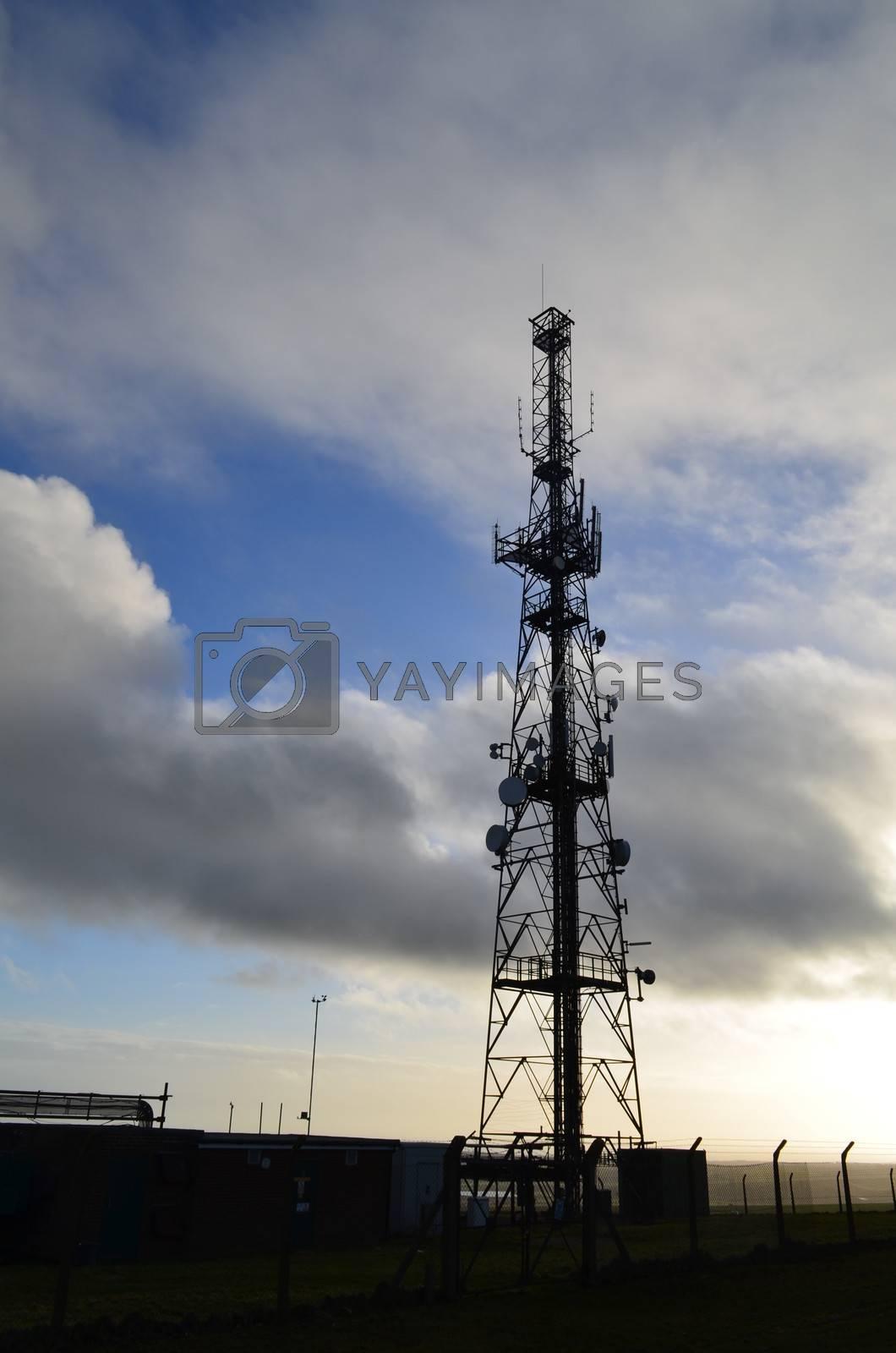 Large communication mast in England.
