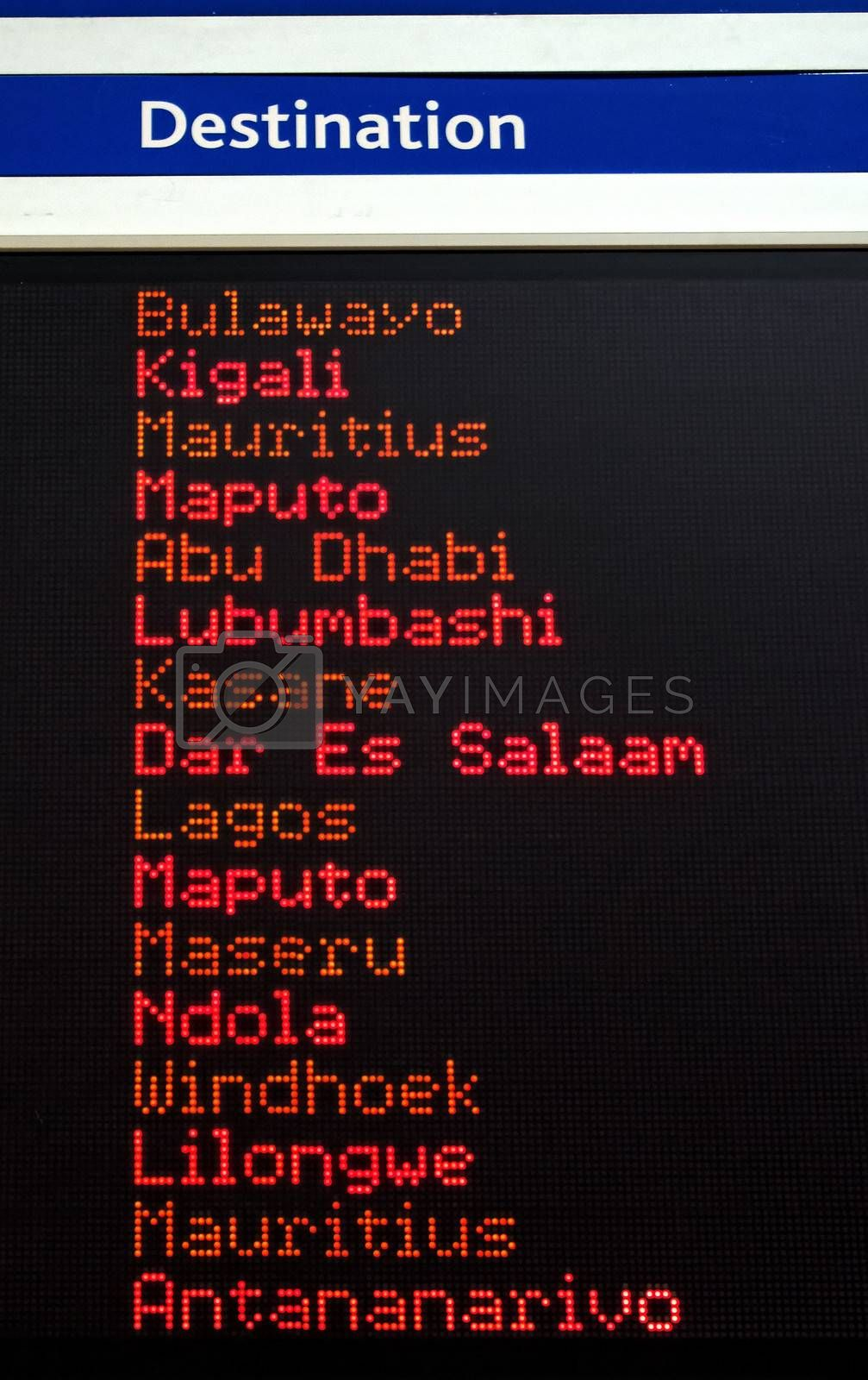 travel africa electronic signboard