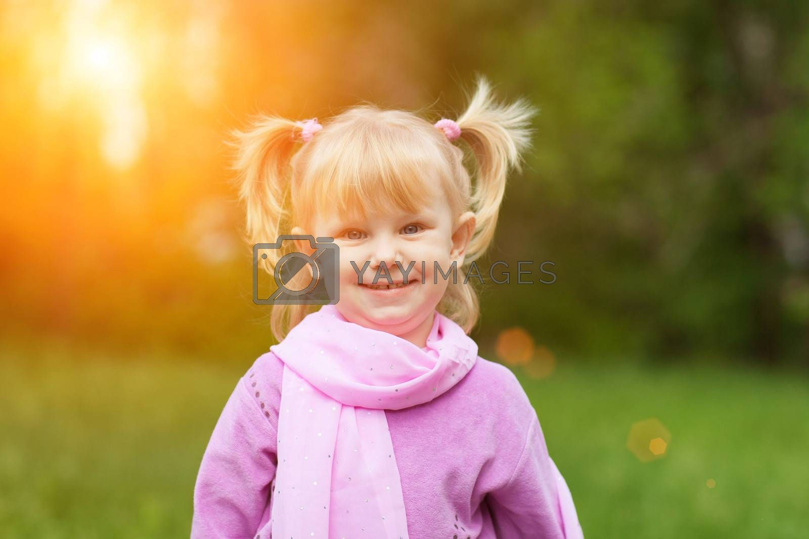 portrait of the girl outdoors