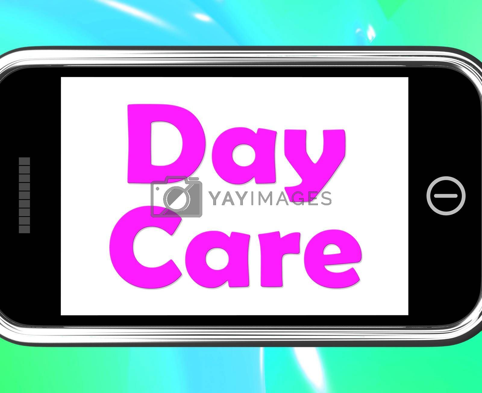 Day Care On Phone Showing Children's Or Toddlers Play