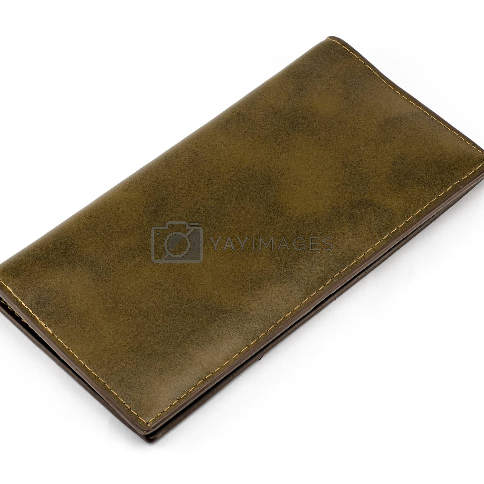 brown wallet clash isolated on white background