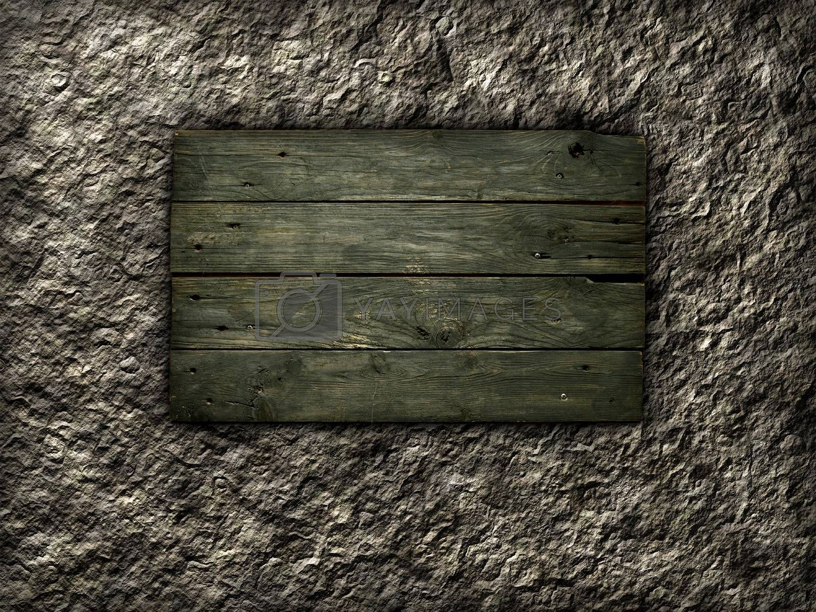 Royalty free image of old wooden planks by drizzd