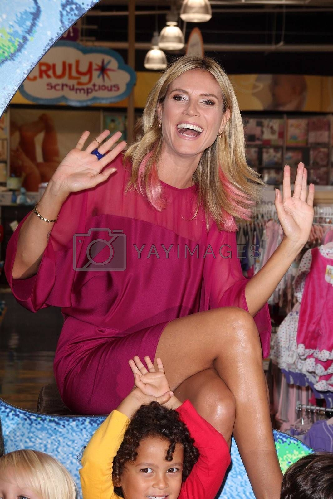 "Heidi Klum at her ""Truly Scrumptious"" Collection Launch, Babies ""R"" Us,  Calabasas, CA 09-14-12"