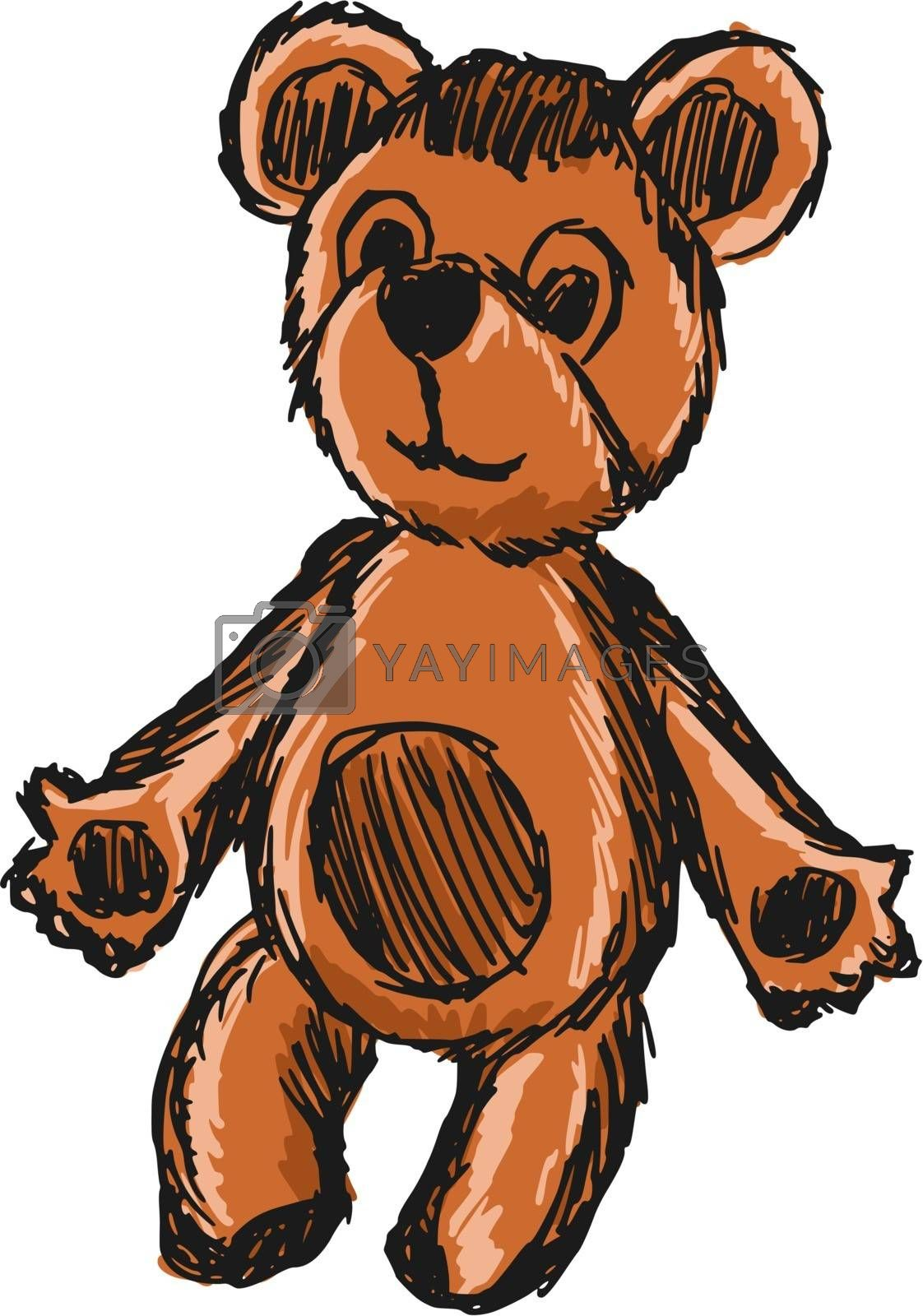 Royalty free image of teddy bear by Perysty