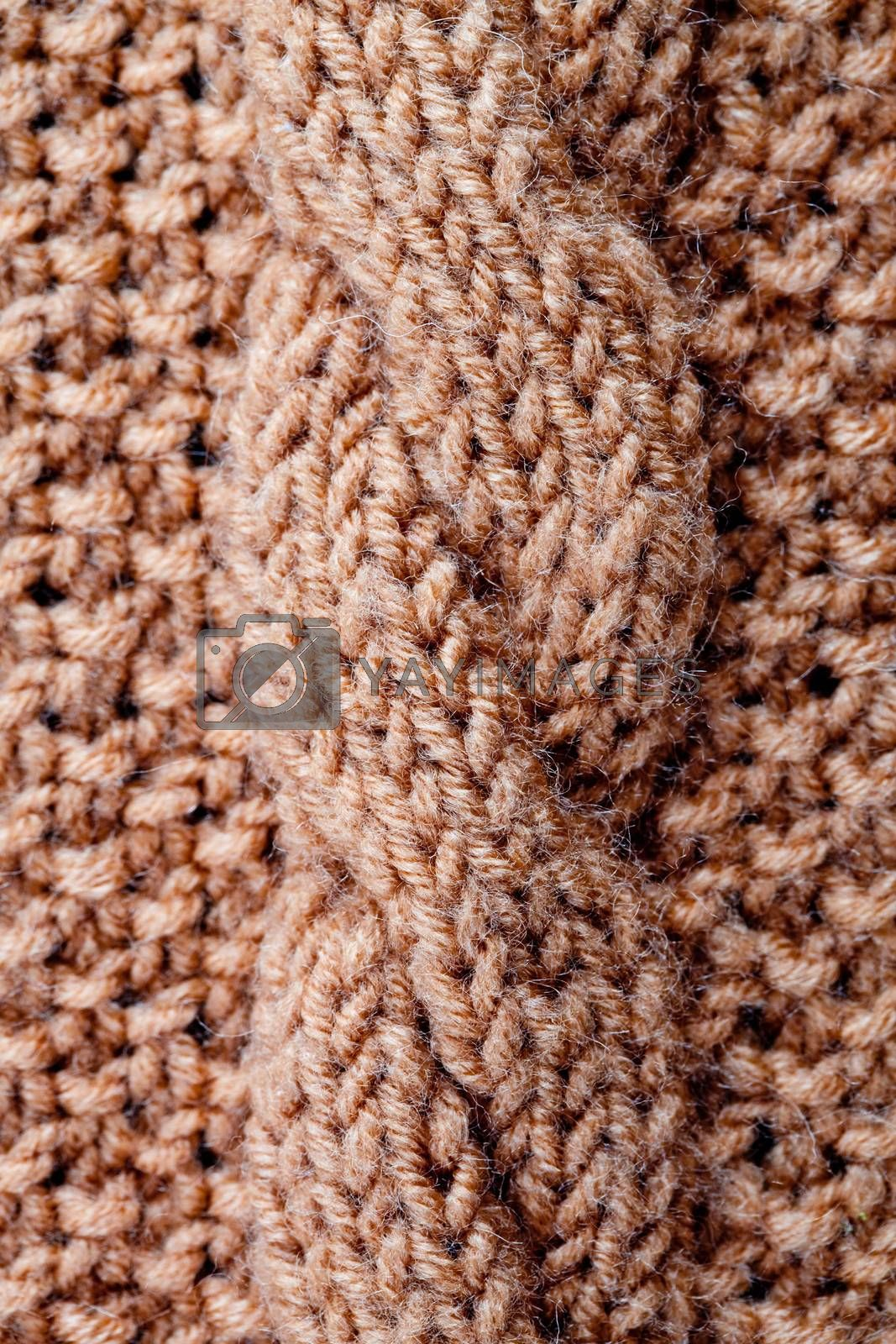 close up macro background of knitted texture