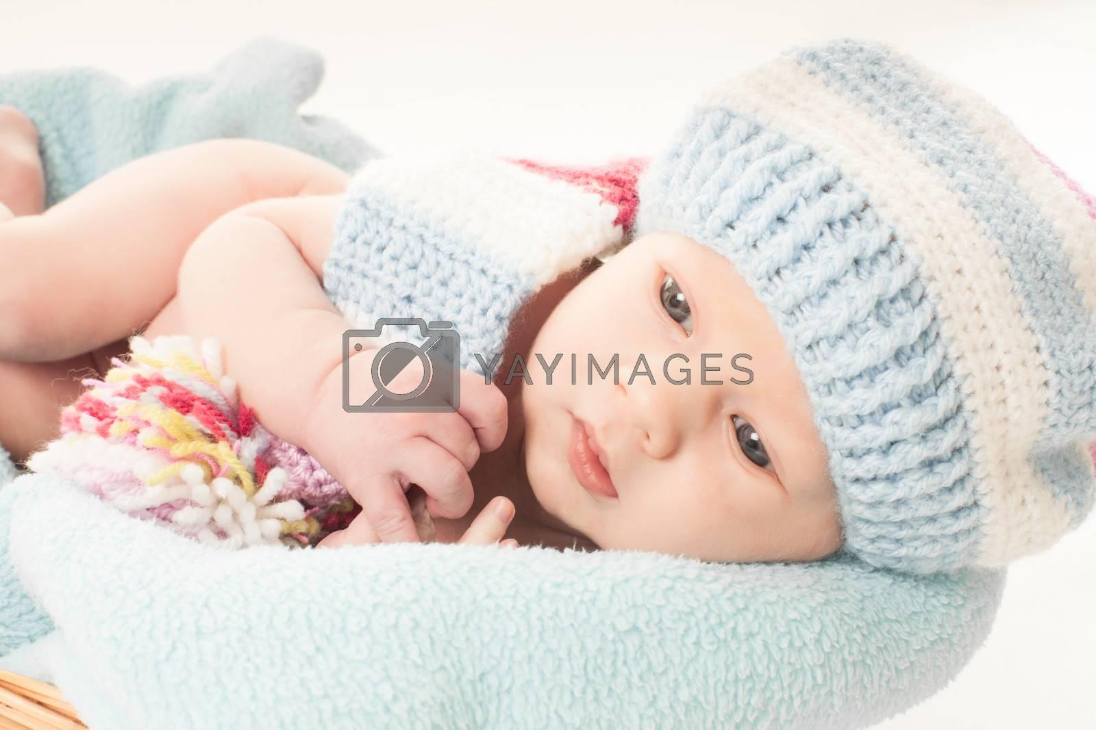 Newborn baby boy by oksix