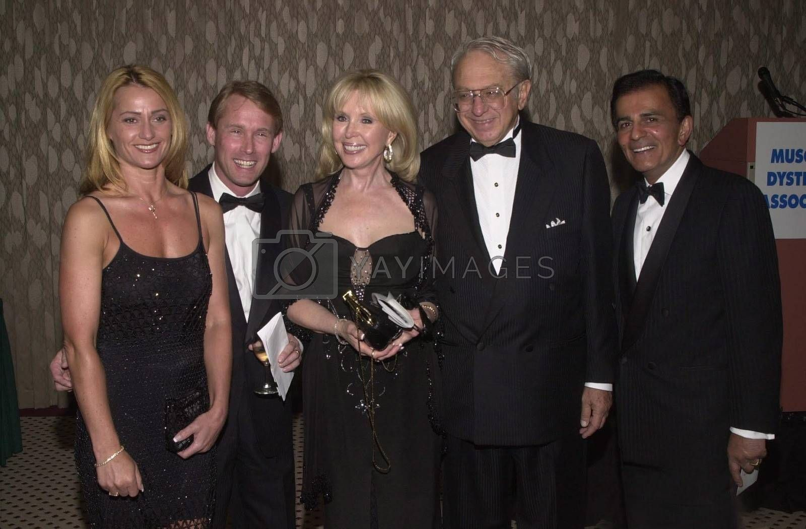 Nadia Comaneci, Bart Conner, Joey Masry, Ed Masry and Casey Kasem at the Night Under The Stars Dinner-Dance to raise money for MS. Beverly Hills, 04-29-00