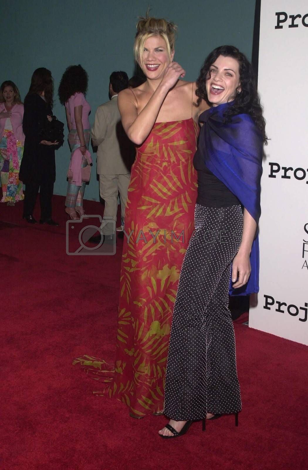 Kirsten Johnston and Julianna Margulies at the 2nd Annual ALS Benefit at the Hollywood Palladium, 04-10-00