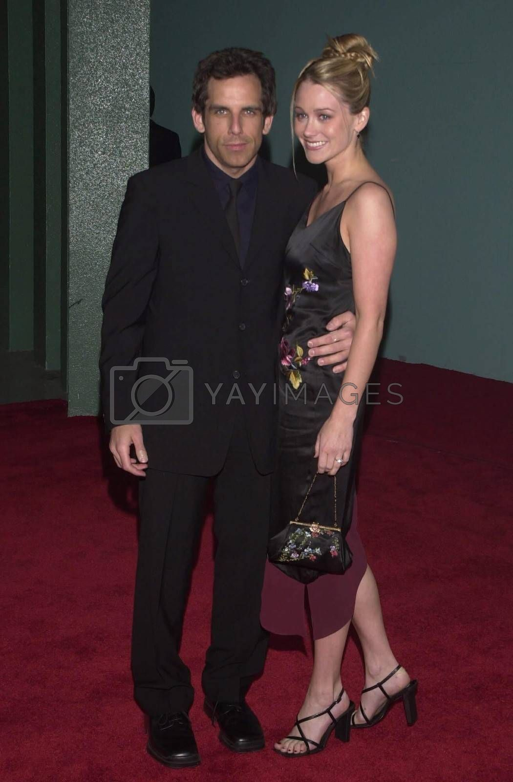 Ben Stiller and Christine Taylor at the 2nd Annual ALS Benefit at the Hollywood Palladium, 04-10-00