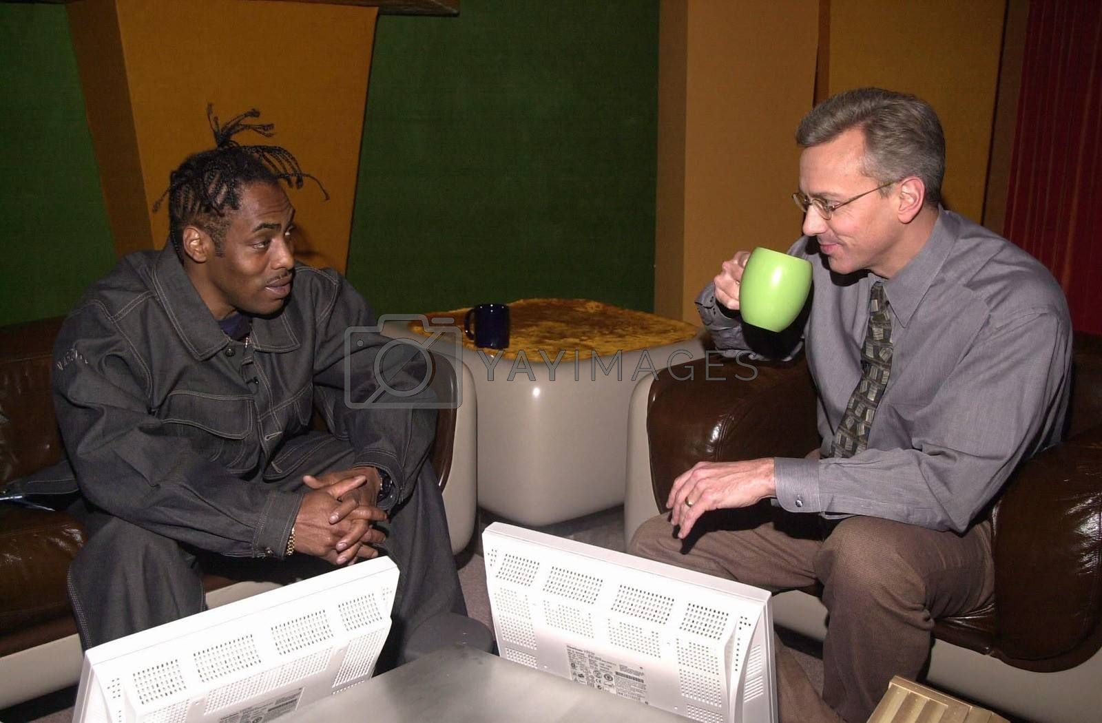 Royalty free image of Coolio on Dr. Drew by ImageCollect