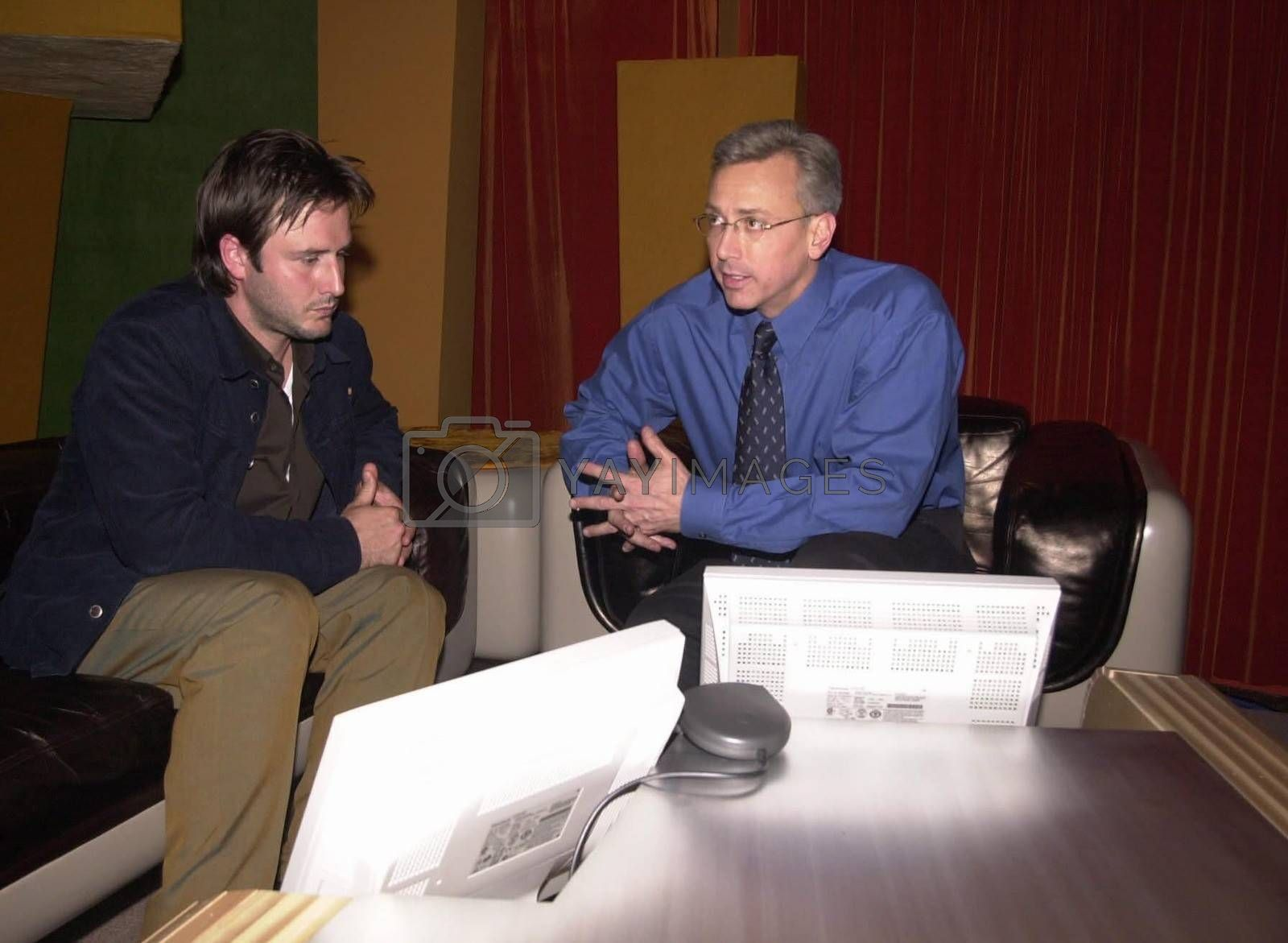 Royalty free image of David ARquette on Dr.Drew by ImageCollect