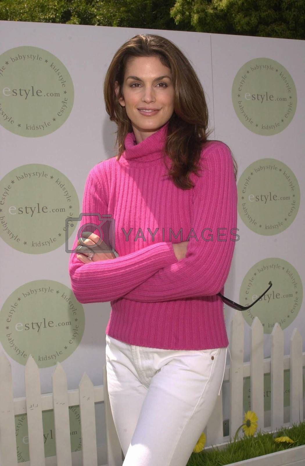 Cindy Crawford at the launch of eStyle.Com's new site, KidStyle.Com, Burbank, 04-15-00