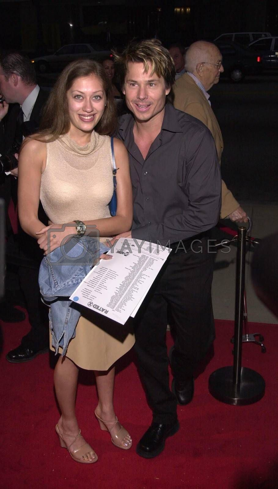 """Kato Kaelin and date Alana at the premiere of Showtime's """"RATED X"""" in Hollywood, 04-27-00"""