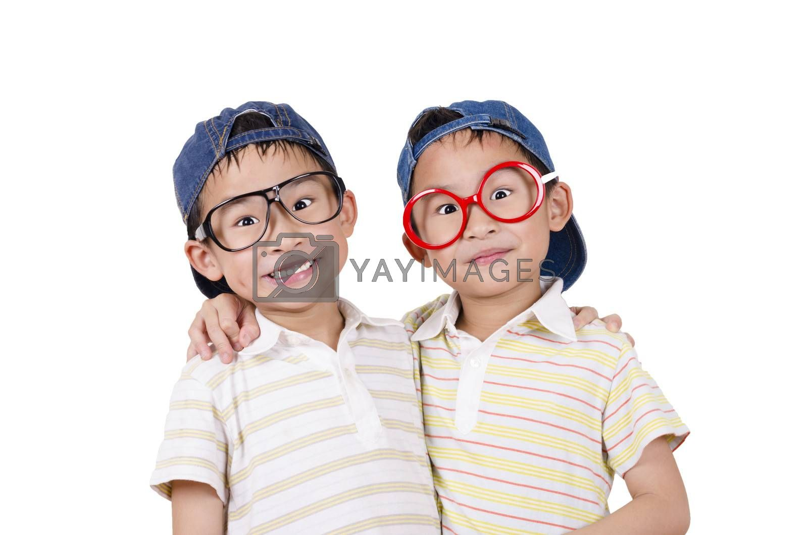 Royalty free image of Cute twin smiling by FrankyLiu
