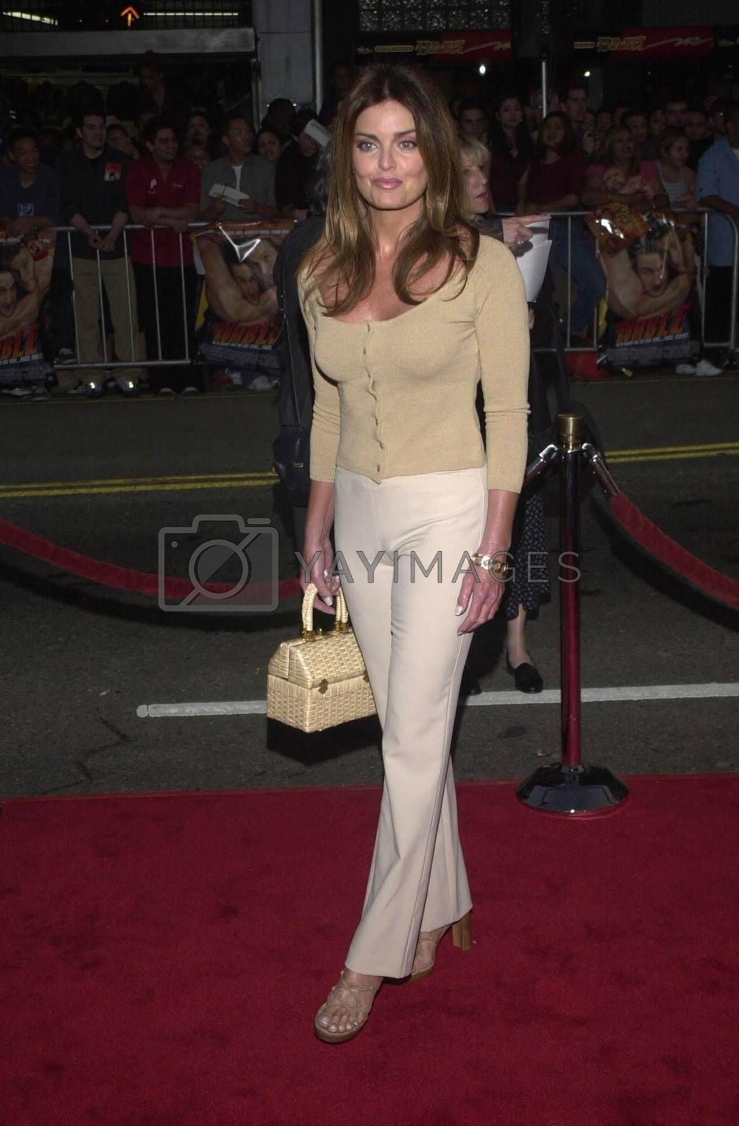 """Tracy Scoggins at the premiere of Warner Brother's """"READY TO RUMBLE"""" in Hollywood, 04-05-00"""