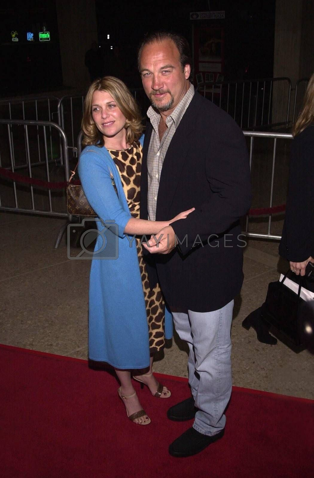 """James Belushi and Jennifer Sloan at the premiere of MGM's """"RETURN TO ME"""" in Century City, 04-03-00"""