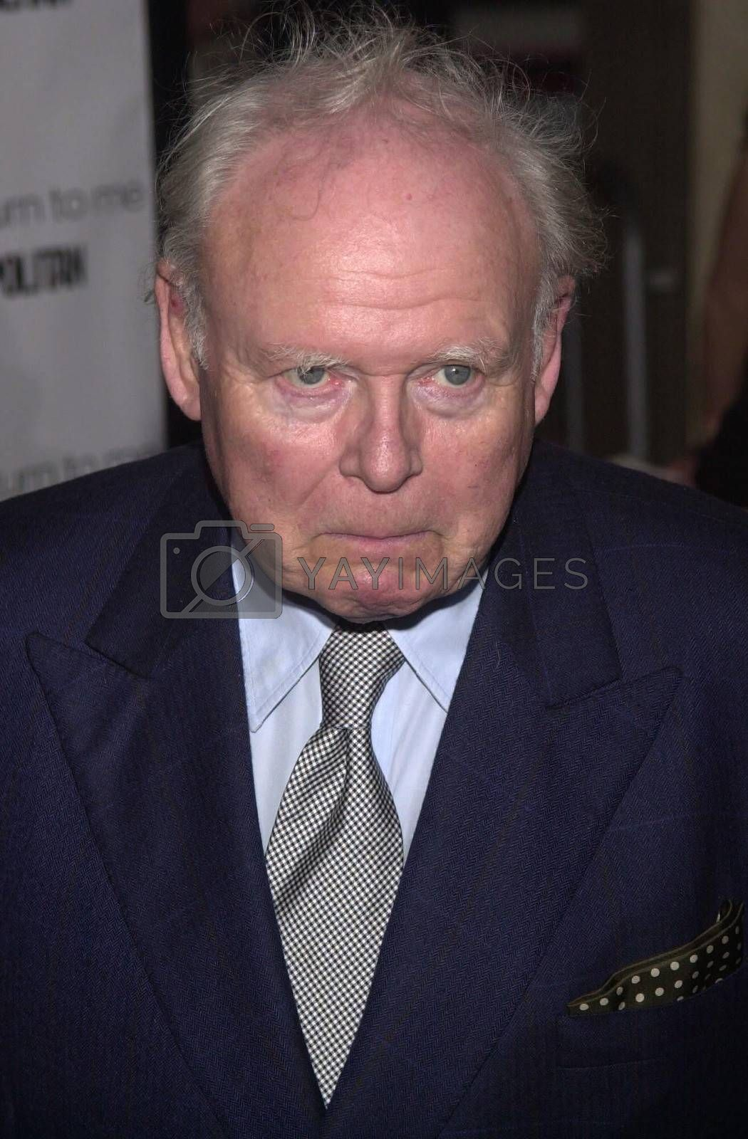 """Carroll O'Connor at the premiere of MGM's """"RETURN TO ME"""" in Century City, 04-03-00"""
