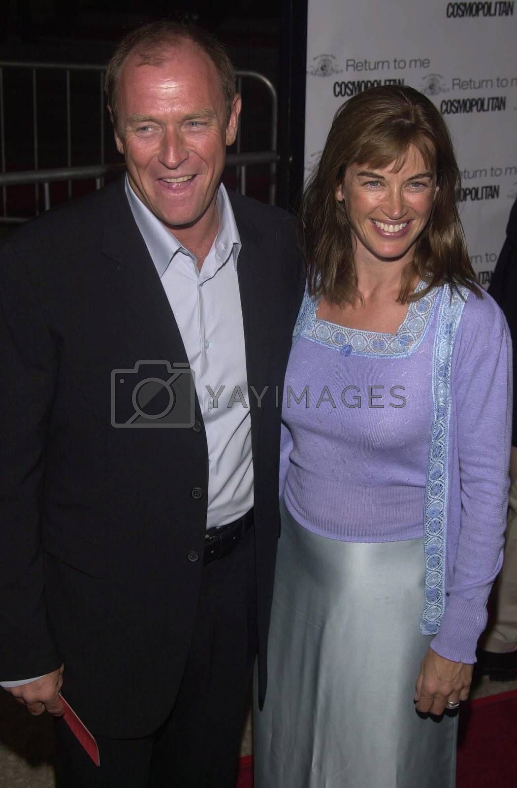 """Corbin Bernson and Amanda Pays at the premiere of MGM's """"RETURN TO ME"""" in Century City, 04-03-00"""