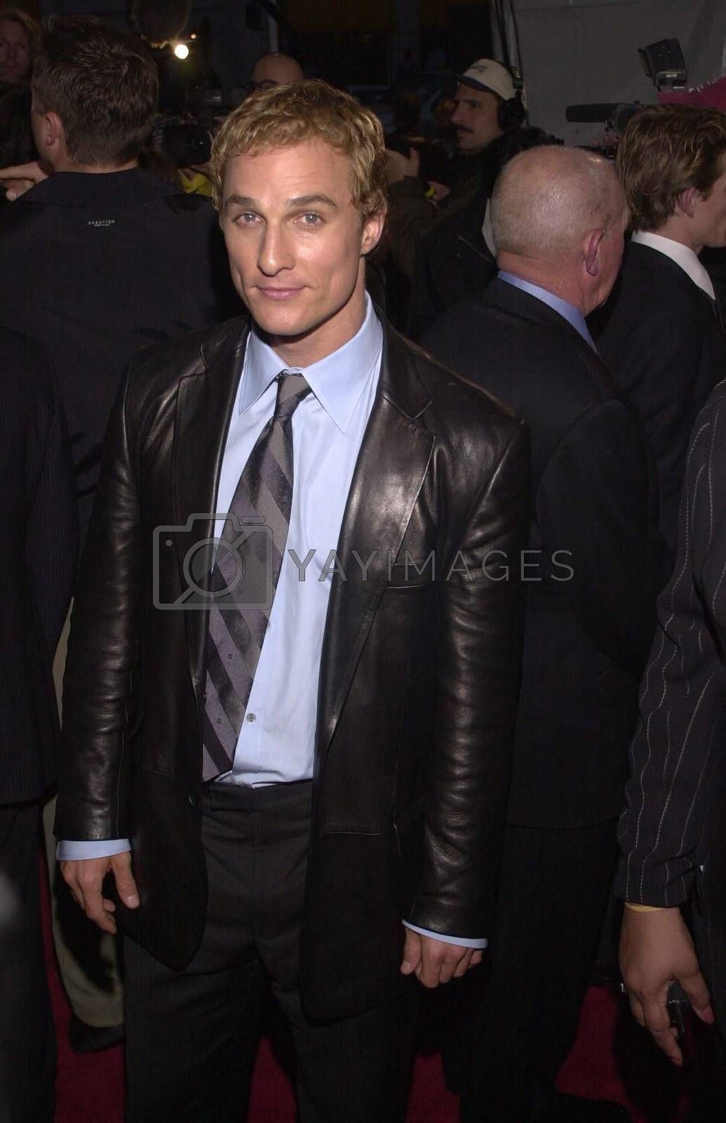 """Matthew McConaughey at the premiere of Universal's """"U-571"""" in Westwood, 04-17-00"""