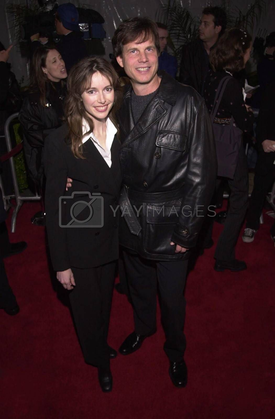 """Bill Paxton and Louise Newbury at the premiere of Universal's """"U-571"""" in Westwood, 04-17-00"""