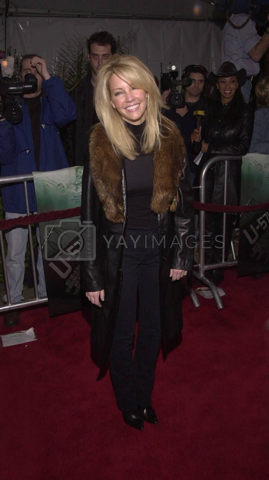 """Heather Locklear at the premiere of Universal's """"U-571"""" in Westwood, 04-17-00"""
