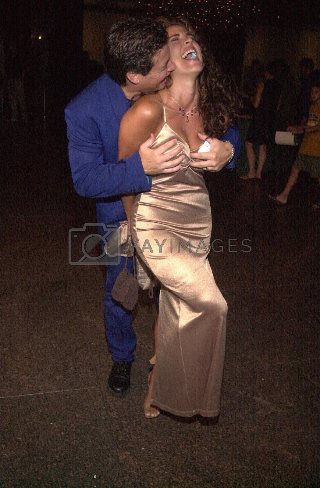 Bryan Genesse and Elizabeth Giordano at the premiere of Very mean Men in Beverly Hills. 08-15-00