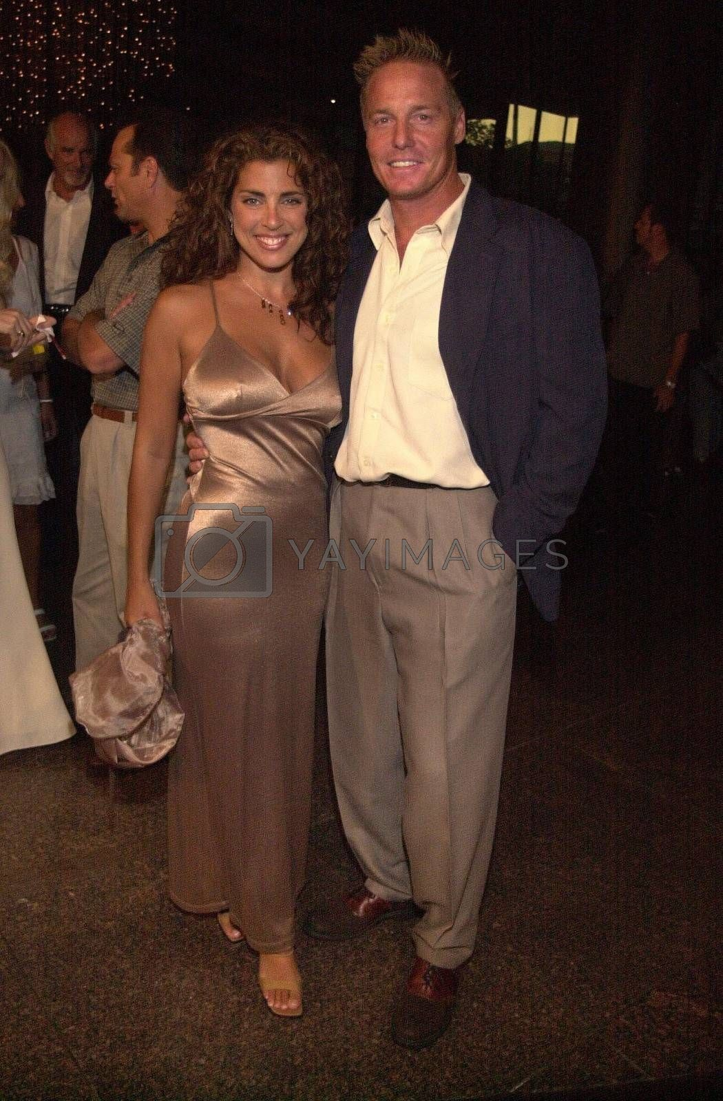 Frank Zagarino and Elizabeth Giordano at the premiere of Very mean Men in Beverly Hills. 08-15-00