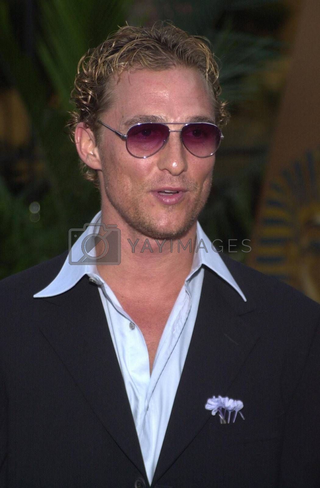 Matthew McConaughey at the Planet Hope Gala hosted by Sharon and Kelly Stone in Woodland Hills. 08-07-00