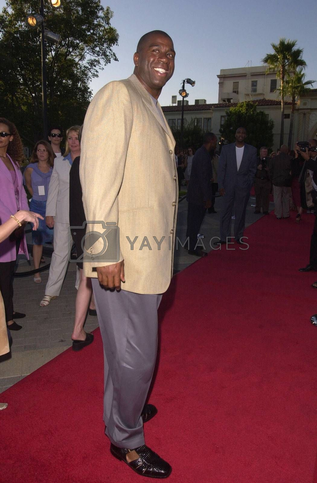 """Magic Johnson at the premiere of """"Original Kings of Comedy"""" in Hollywood. 08-10-00"""
