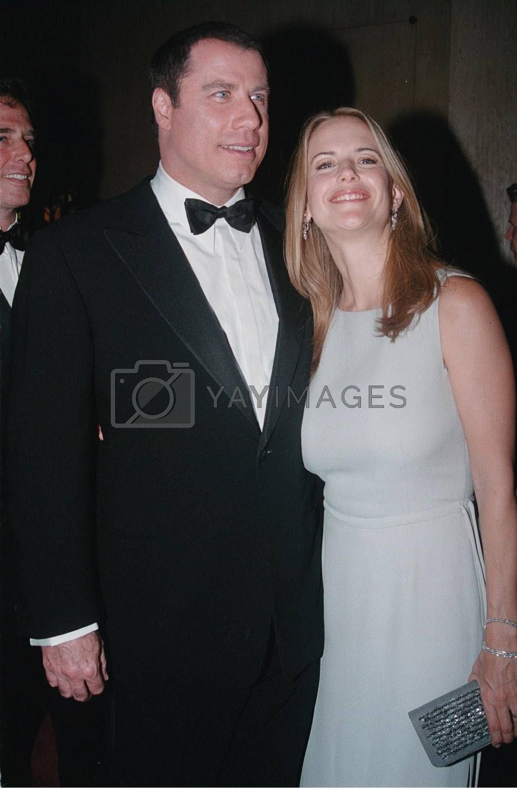 John Travolta and Kelly Preston at the Hollywood Film Awards in Beverly Hills. 08-08-00