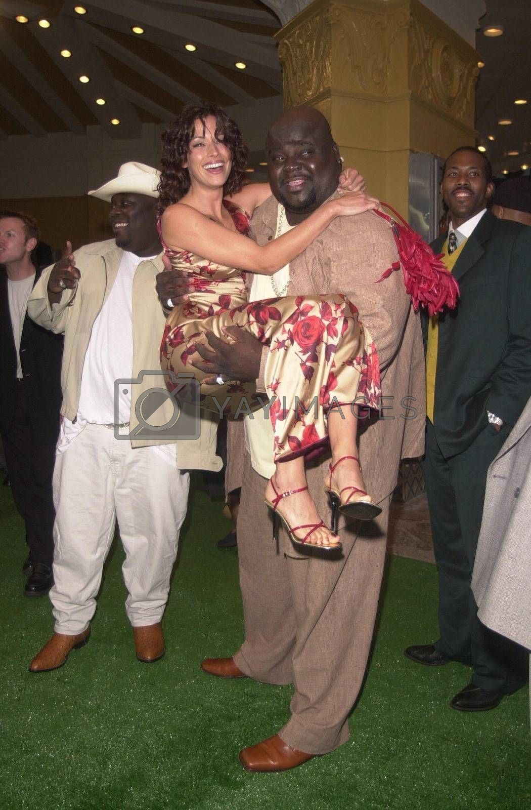 Brooke Langton and Michael Taliferro at the premiere of The Replacements in Westwood. 08-07-00