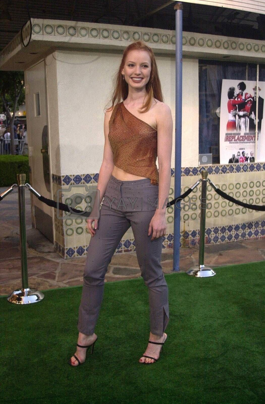 Alicia Witt at the premiere of The Replacements in Westwood. 08-07-00