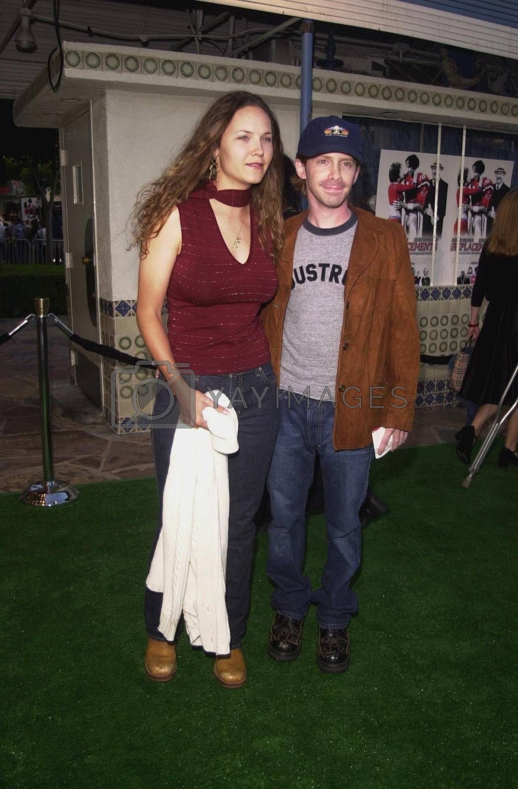 Seth Green and Girlfriend Chad at the premiere of The Replacements in Westwood. 08-07-00