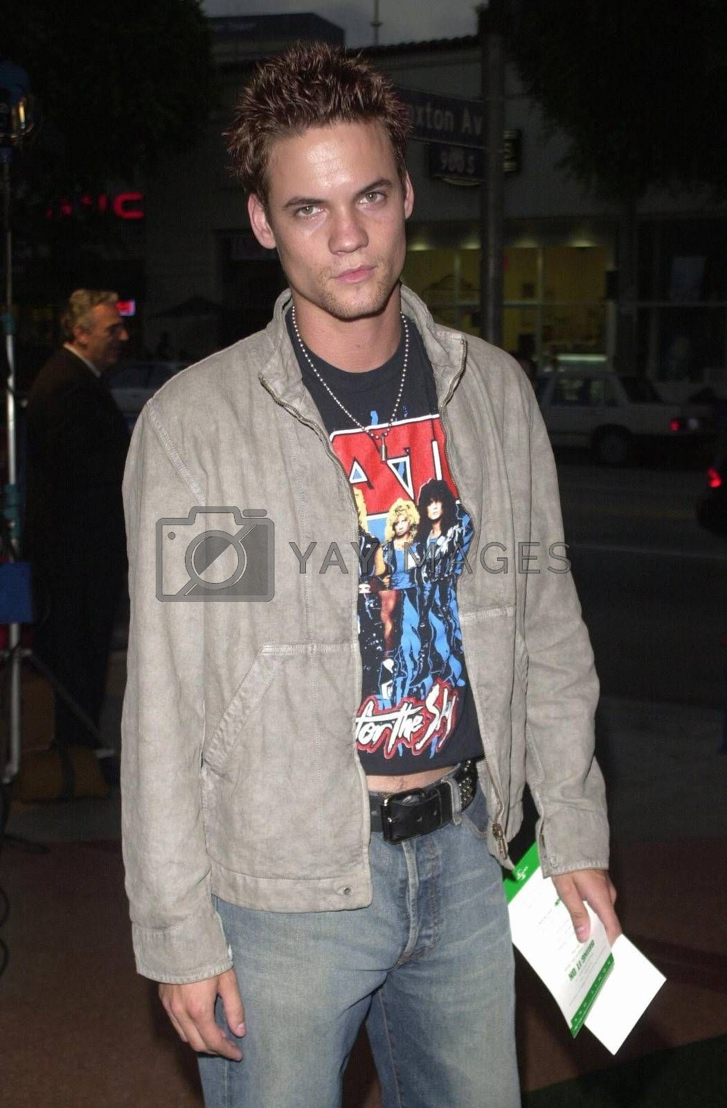 """Shane West at the premiere of """"Bring It On"""" in Westwood. 08-22-00"""