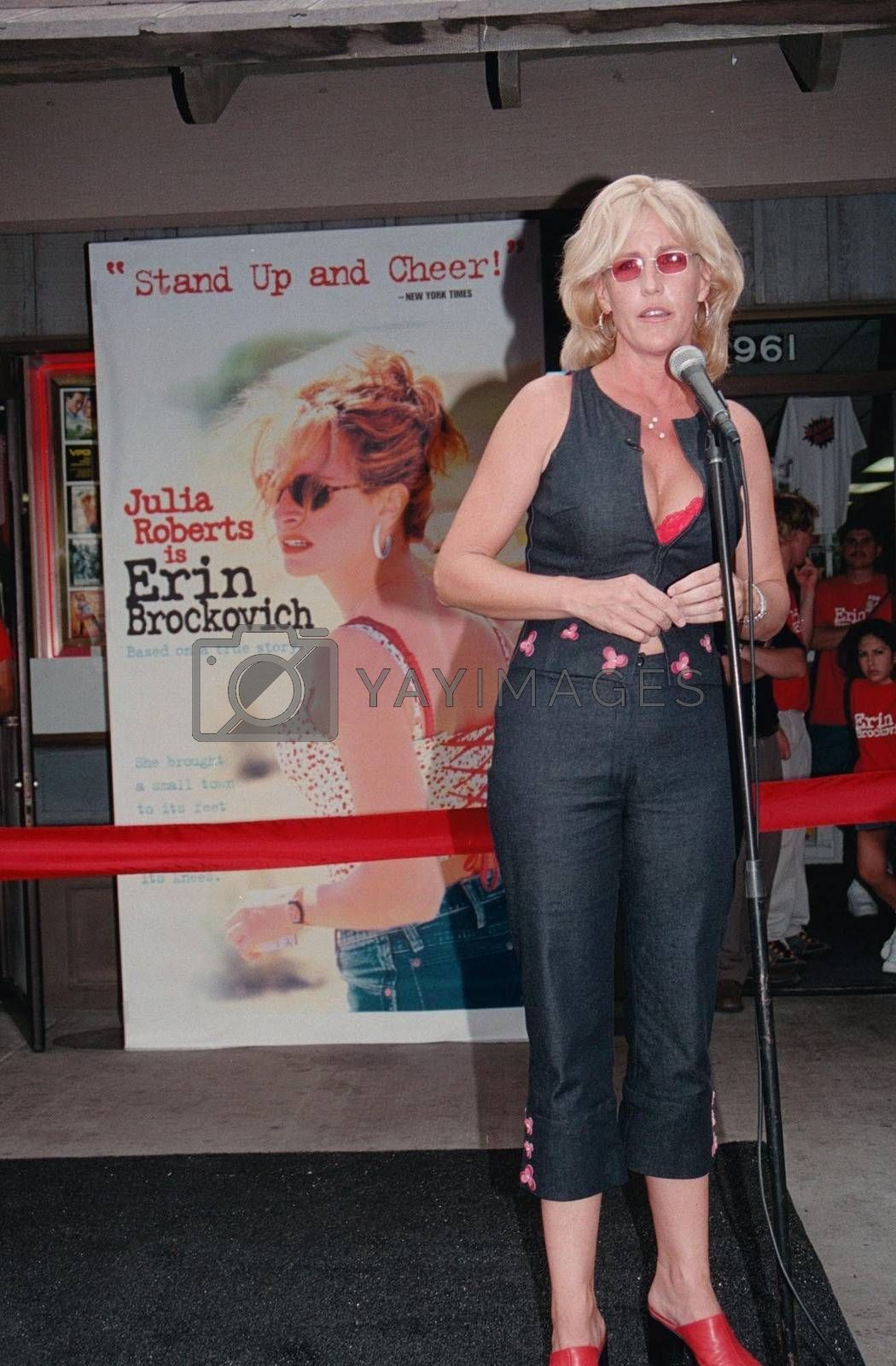 Erin Brockovich at the video release party for the film in Barstow. 08-15-00