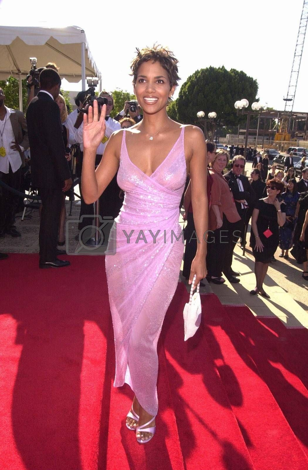 Halle Berry at the Creative Arts Emmy Awards in Pasadena. 08-26-00