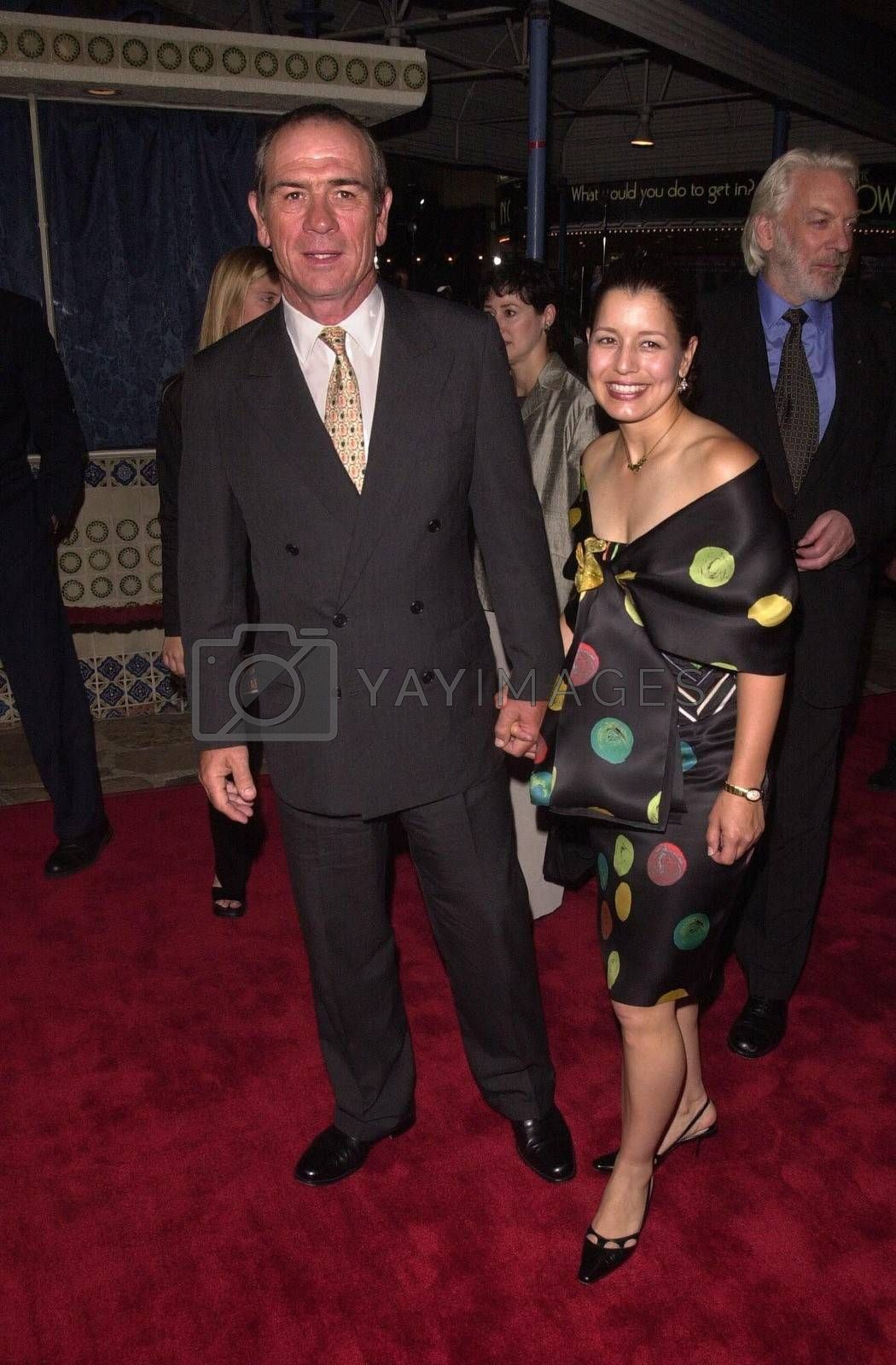"""Tommy Lee Jones and Date at the premiere of """"Space Cowboys"""" in Westwood. 08-01-00"""