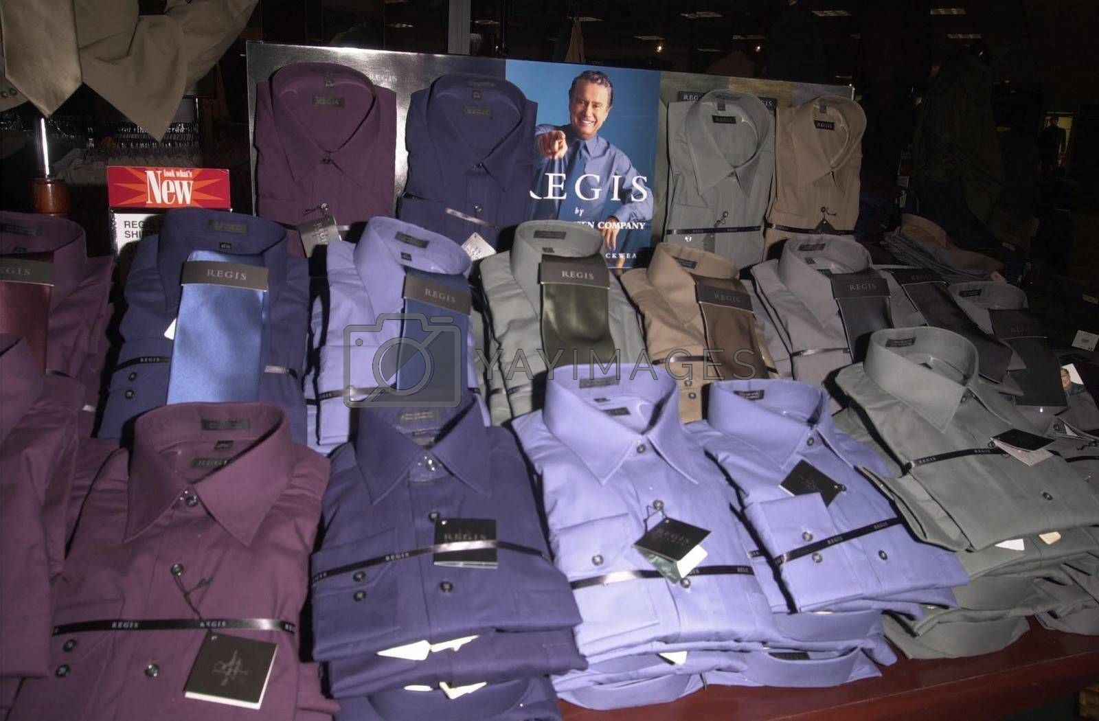 Regis Philbin Collection at Robinson's-May in Beverly Hills to promote new clothes line. 08-23-00
