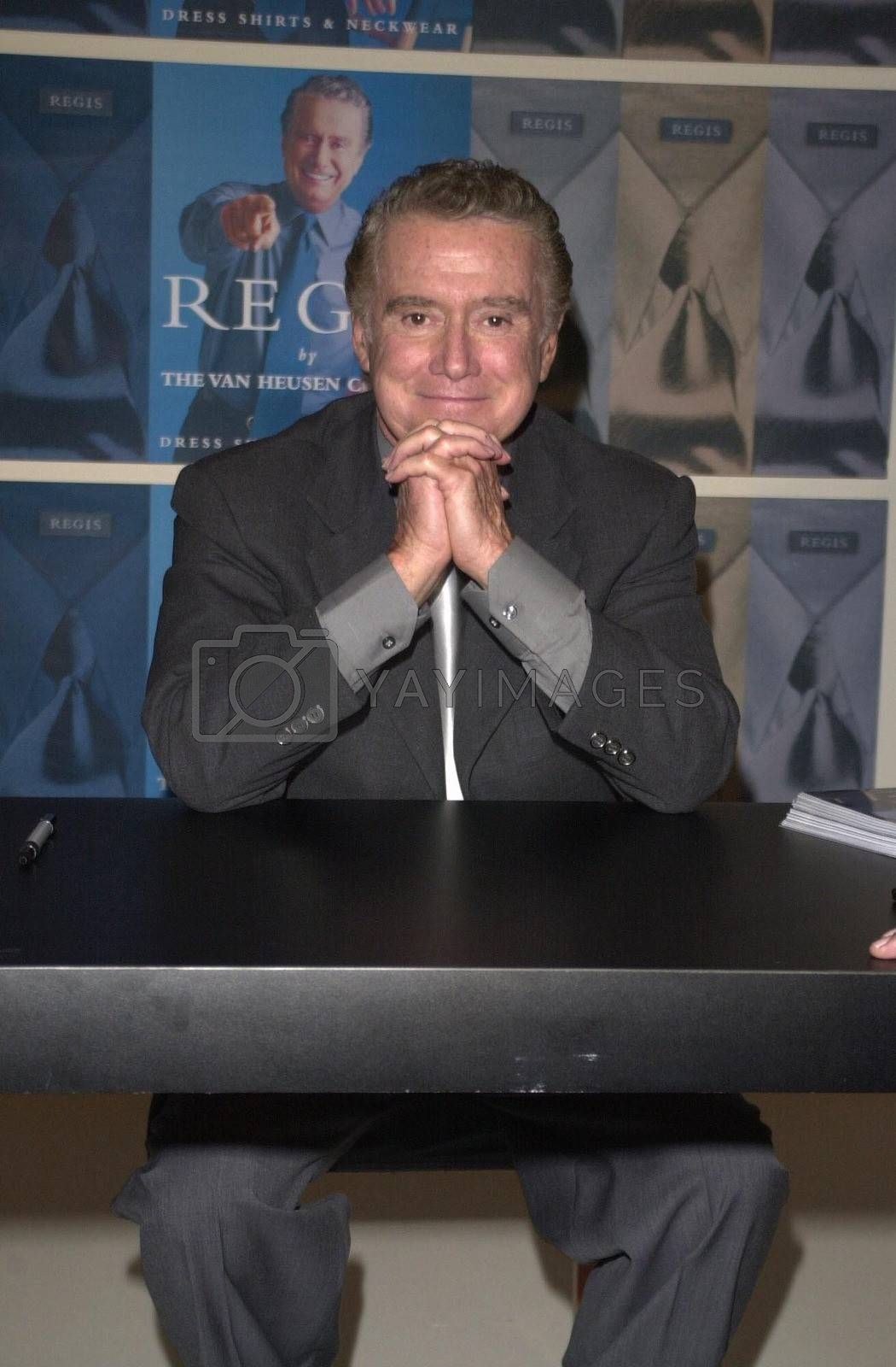 Regis Philbin at Robinson's-May in Beverly Hills to promote new clothes line. 08-23-00