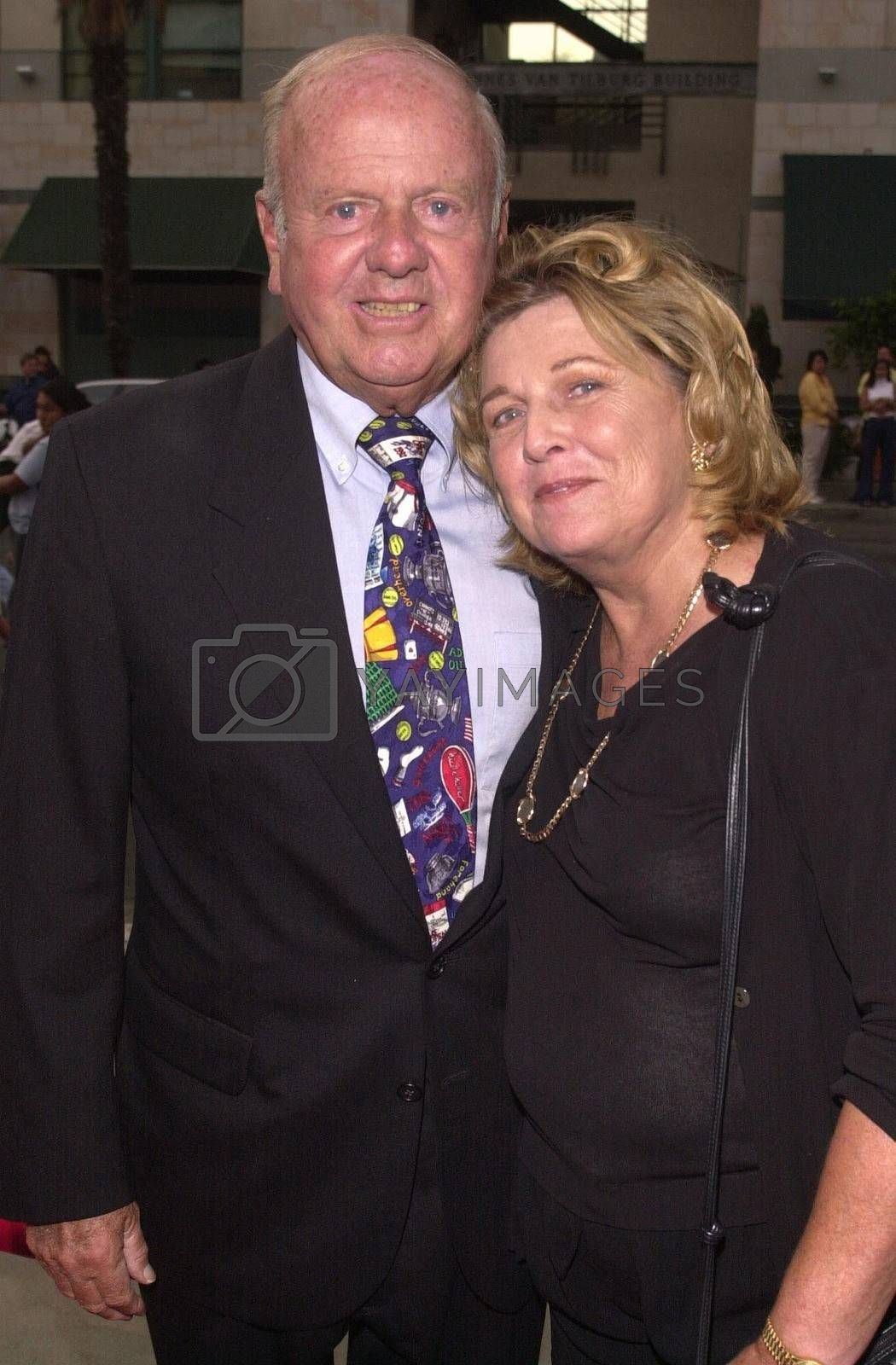 Dick Van Patten and Wife at the premiere of My 5 Wives in Santa Monica. 08-28-00