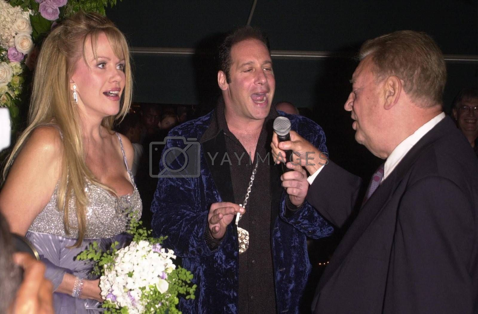 Andrew Dice Clay, Rodney Dangerfield and Joan Child at the premiere of My 5 Wives in Santa Monica. 08-28-00