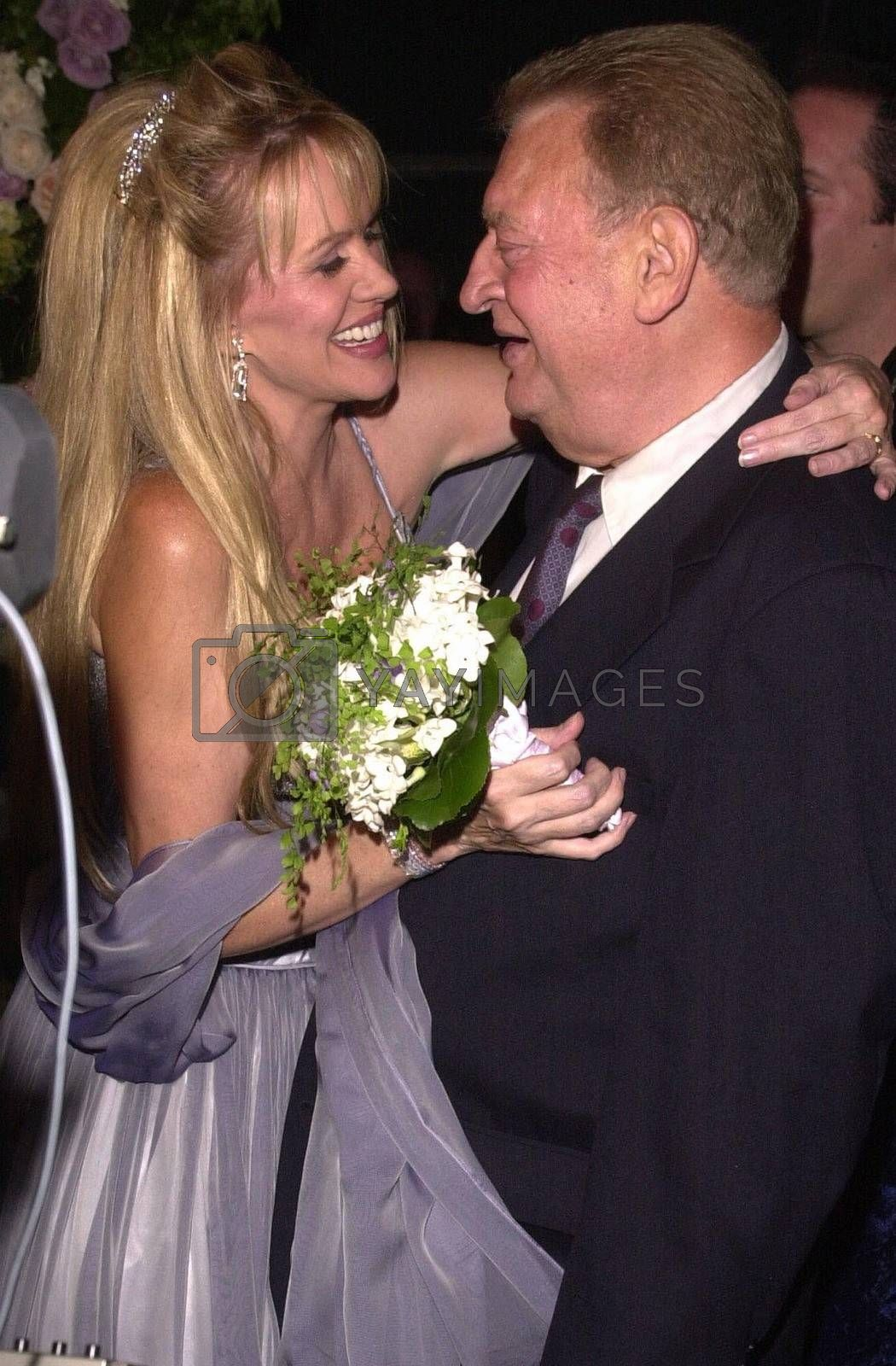 Rodney Dangerfield and Joan Child at the premiere of My 5 Wives in Santa Monica. 08-28-00