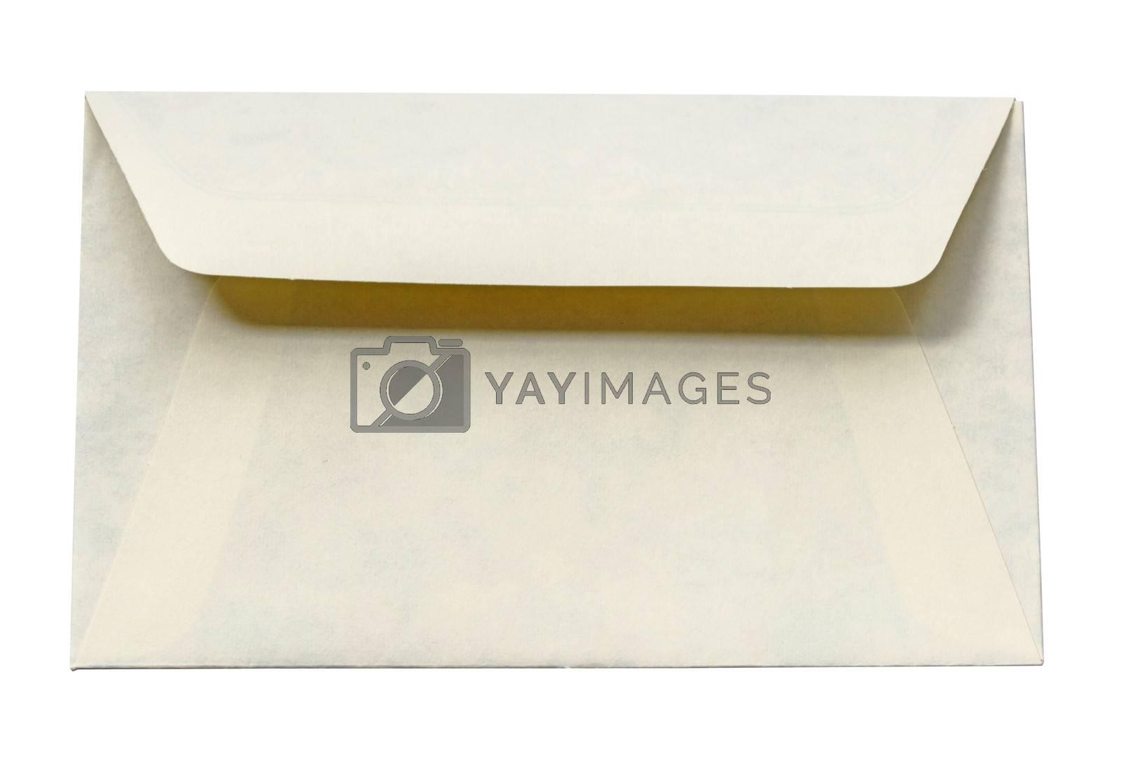 Old envelope isolated on white background.