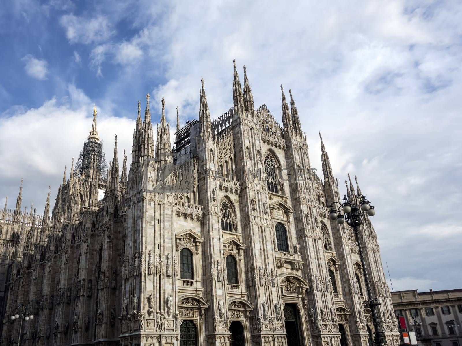 Facade of Cathedral Duomo, Milan, Italy