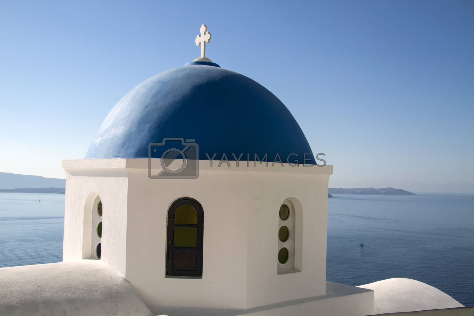 Church in Oia - Santorini island Greece