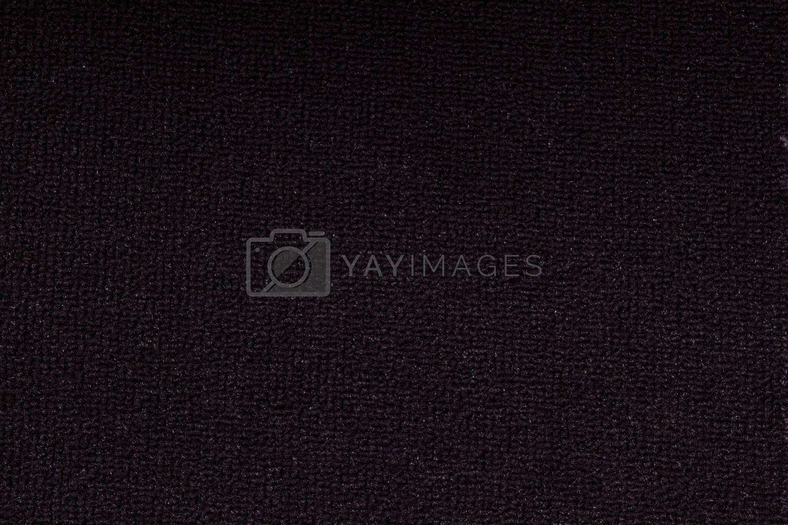 Background of black carpet closeup
